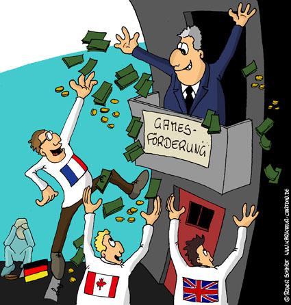 Karikatur, Cartoon: 1001 Spiele, © Roger Schmidt
