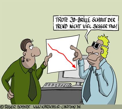 Karikatur, Cartoon: Unbedingt eine 3D-Brille kaufen, © Roger Schmidt