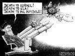 Karikatur, Cartoon: Flugzeugabschuss im Iran © Roger Schmidt