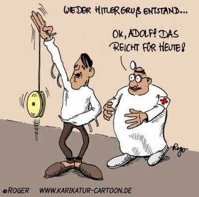 Karikatur, Cartoon: Adolf Hitler, © Roger Schmidt