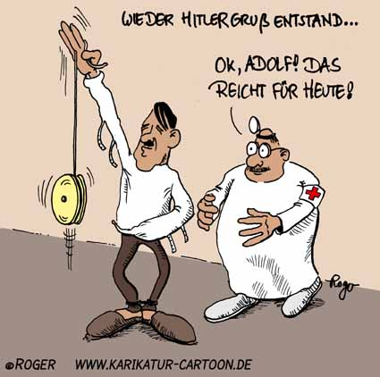 Karikatur, Cartoon: Adolf Hitler, © Roger Schmidt
