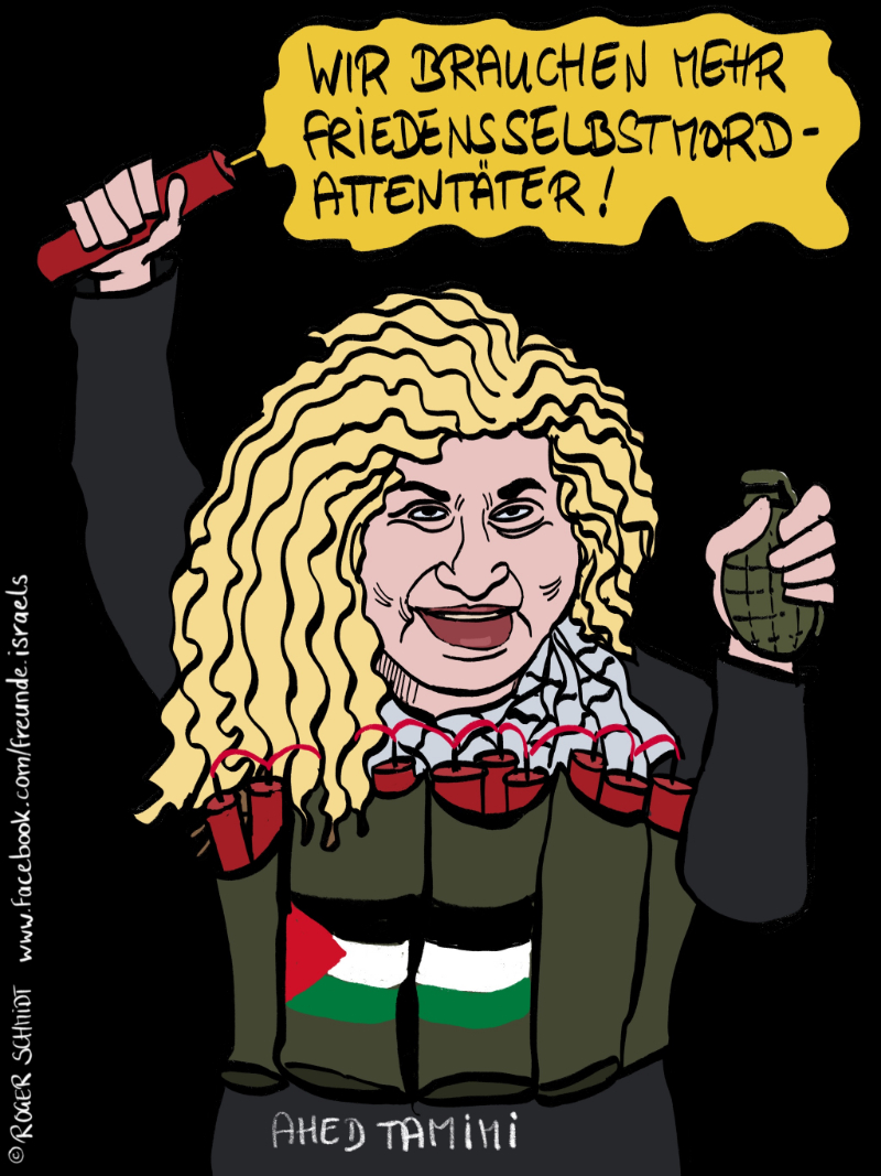 Karikatur, Cartoon: Ahed-Tamini, © Roger Schmidt