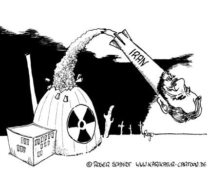 Karikatur, Cartoon: Ahmedinedschad, © Roger Schmidt