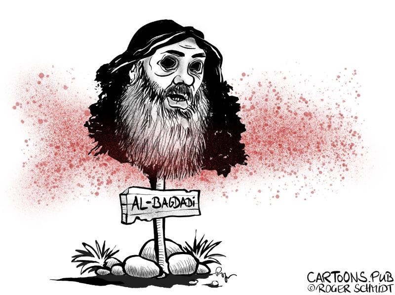 Karikatur, Cartoon: IS-Führer Al-Bagdadi ist tot © Roger Schmidt