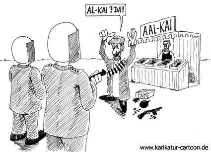 Karikatur, Cartoon: AL-Kaida, © Roger Schmidt