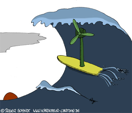 Karikatur, Cartoon: Alternative Energien, © Roger Schmidt
