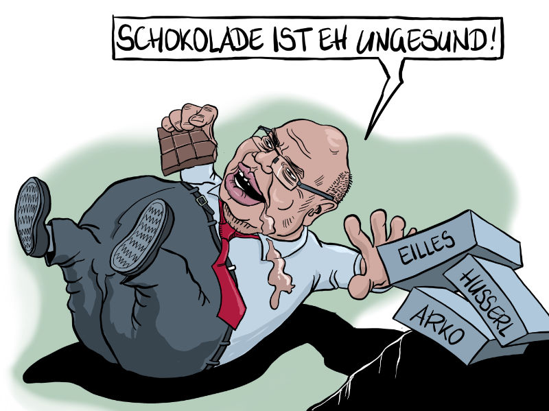 Karikatur, Cartoon: Altmaier verordnet Wirtschaft eine Fastenkur © Roger Schmidt