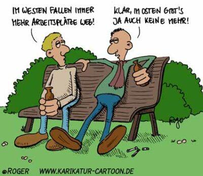 Karikatur, Cartoon: Arbeitslosigkeit, © Roger Schmidt