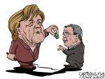 Karikatur, Cartoon: Armin Laschet bekommt Leckerli © Roger Schmidt