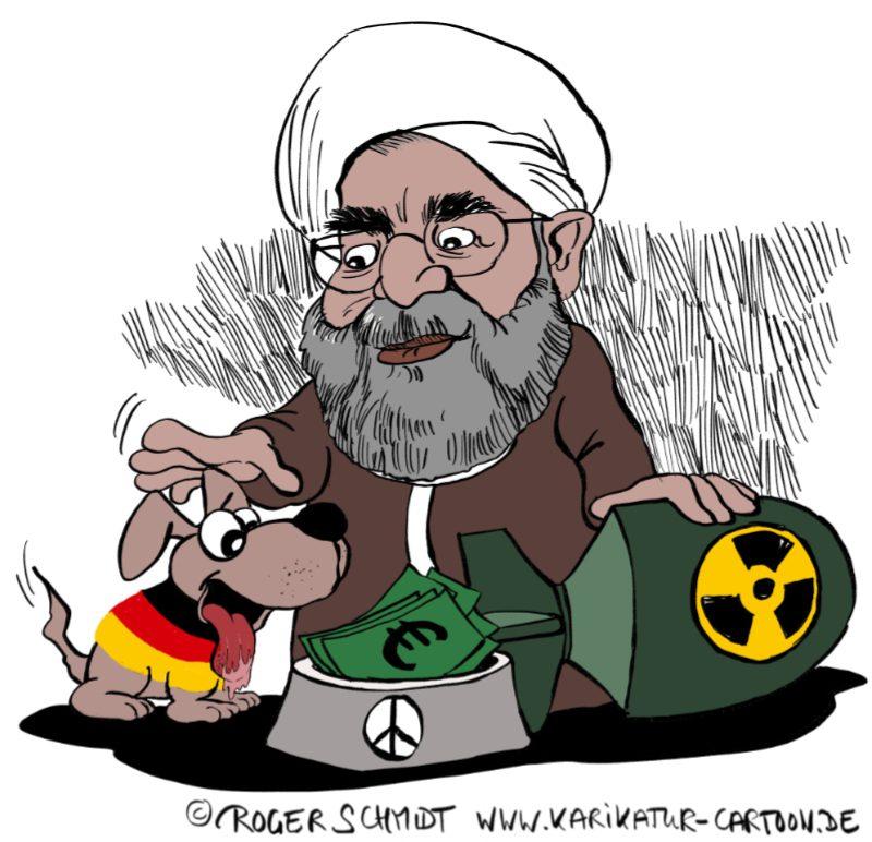 Karikatur, Cartoon: Atomabkommen mit dem Iran © Roger Schmidt