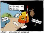 Karikatur, Cartoon: Atomausstieg, © Roger Schmidt