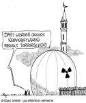 Karikatur, Cartoon: Terrorangriffe gefährden Atommeiler, © Roger Schmidt