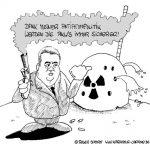 Karikatur, Cartoon: Atompolitik, © Roger Schmidt