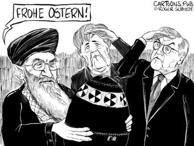Karikatur, Cartoon: Atomwaffenprogramm Iran © Roger Schmidt