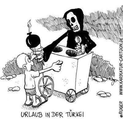 Karikatur, Cartoon: Attentat Türkei, © Roger Schmidt