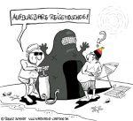 Karikatur, Cartoon: Die Alternative zum Gebetsteppisch, © Roger Schmidt