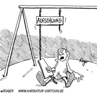 Karikatur, Cartoon: Aufschwung, © Roger Schmidt
