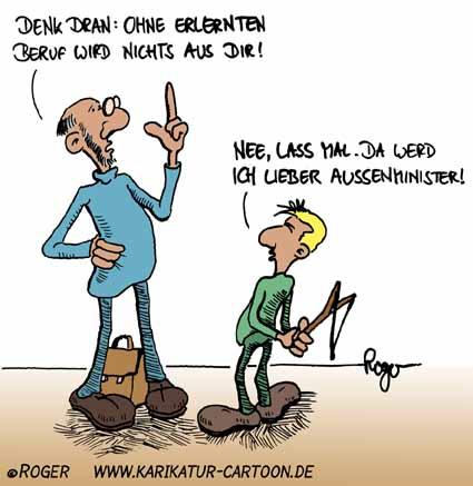 Karikatur, Cartoon: Ausbildung, © Roger Schmidt