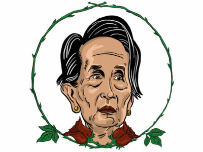 Karikatur, Cartoon: Auen San Suu Kyi © Roger Schmidt