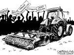Karikatur, Cartoon: Bauer als Prügelknabe © Roger Schmidt