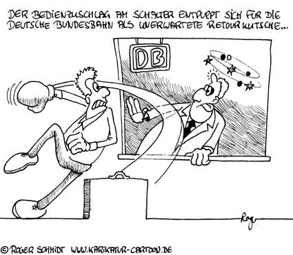 Karikatur, Cartoon: Bedienzuschlag, © Roger Schmidt