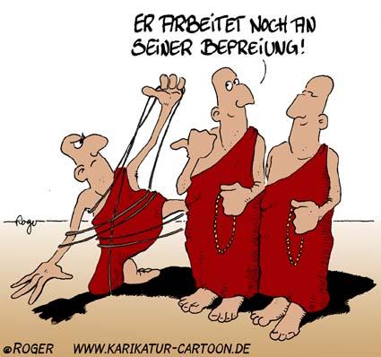 Karikatur, Cartoon: Befreiung, © Roger Schmidt