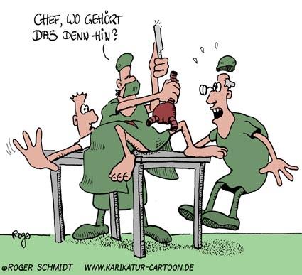 Karikatur, Cartoon: Behandlungsfehler, © Roger Schmidt