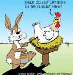 Karikatur, Cartoon: Bemalte Ostereier, © Roger Schmidt