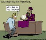 Karikatur, Cartoon: Berufsberater beim Arbeitsamt, © Roger Schmidt
