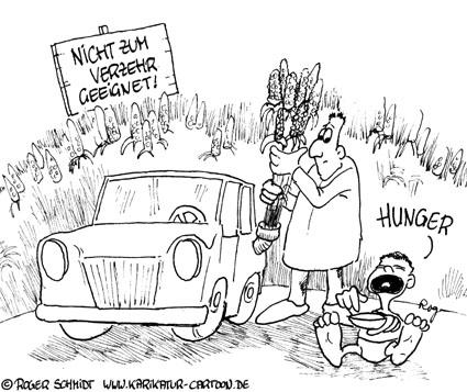 Karikatur, Cartoon: Biokraftstoff, © Roger Schmidt