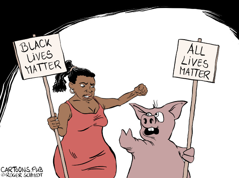 Karikatur, Cartoon: Black Lives Matter © Roger Schmidt
