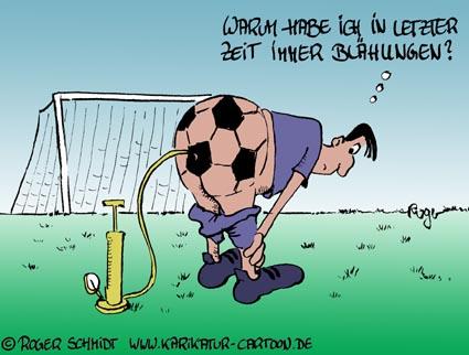 Karikatur, Cartoon: Blähungen, © Roger Schmidt