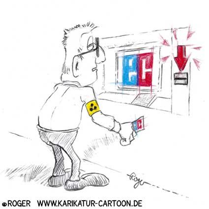 Karikatur, Cartoon: Blindheit, © Roger Schmidt