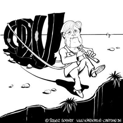 Karikatur, Cartoon: Merkel fordert mehr Blockflöte, © Roger Schmidt