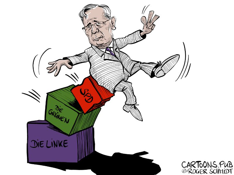 Karikatur, Cartoon: Bodo Ramelow gewinnt Landtagswahl in Thüringen © Roger Schmidt