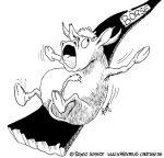 Karikatur, Cartoon: Kurssturz an der Börse, © Roger Schmidt