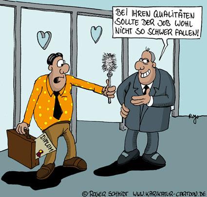Karikatur, Cartoon: Boreout - ein Arbeitsleben voller Langeweile, © Roger Schmidt