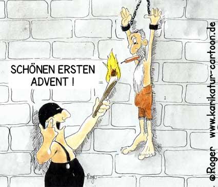 Karikatur, Cartoon: Schöner erster Advent, © Roger Schmidt
