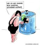 Karikatur, Cartoon: Gaskammer, © Roger Schmidt