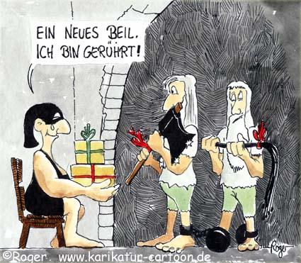 Karikatur, Cartoon: Geschenk, © Roger Schmidt