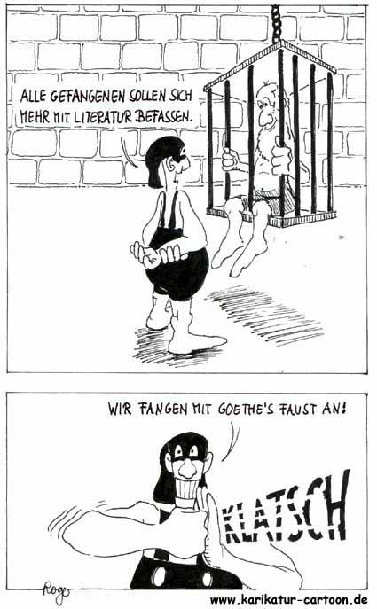 Karikatur, Cartoon: Goethe Faust, © Roger Schmidt