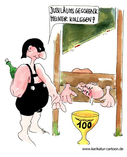 Karikatur, Cartoon: Jubiläum, © Roger Schmidt