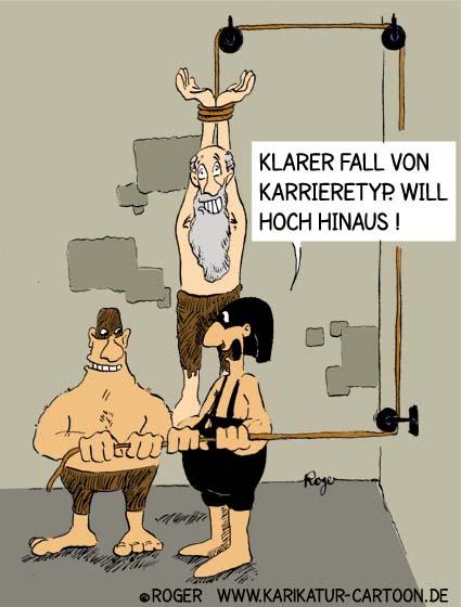 Karikatur, Cartoon: Karriere im Job, © Roger Schmidt