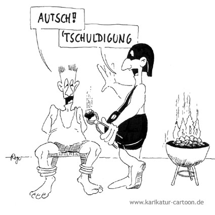 Karikatur, Cartoon: Grill Kohle, © Roger Schmidt