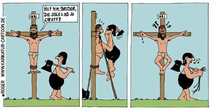 Karikatur, Cartoon: Nächstenliebe, © Roger Schmidt