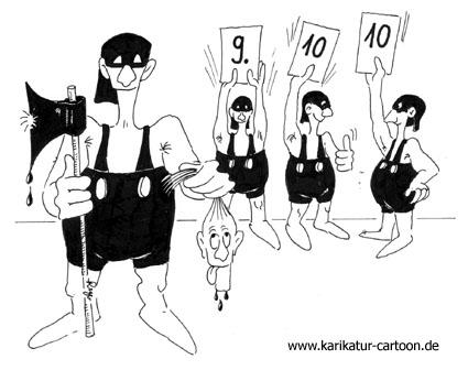 Karikatur, Cartoon: Jury, © Roger Schmidt