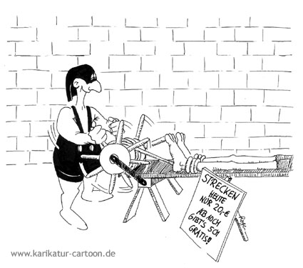 Karikatur, Cartoon: Stretching, © Roger Schmidt