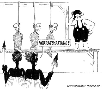 Karikatur, Cartoon: Vorratshaltung, © Roger Schmidt