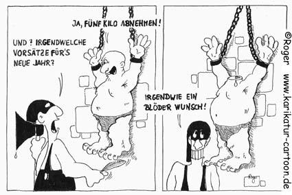 Karikatur, Cartoon: Guter Vorsatz für's Neue Jahr, © Roger Schmidt
