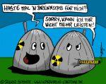 Karikatur, Cartoon: Der Brennstab, © Roger Schmidt
